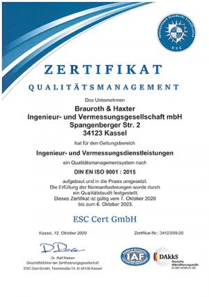 DIN EN ISO 9001:2015 Vermessung Kassel